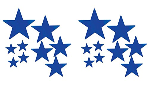- Beistle 53306-B Beistle 53306-B, 18 Piece Packaged Foil Star Cutouts, Assorted Sizes (Blue), Assorted Sizes, Blue