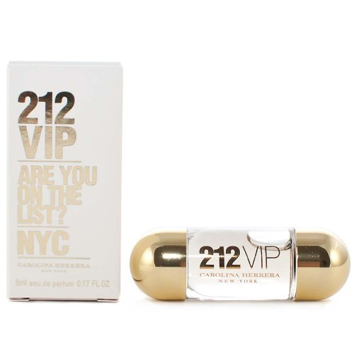 212 VIP by Carolina Herrera for Women 0.17 oz Eau de Parfum Miniature (0.17 Ounce Miniature Collectible)