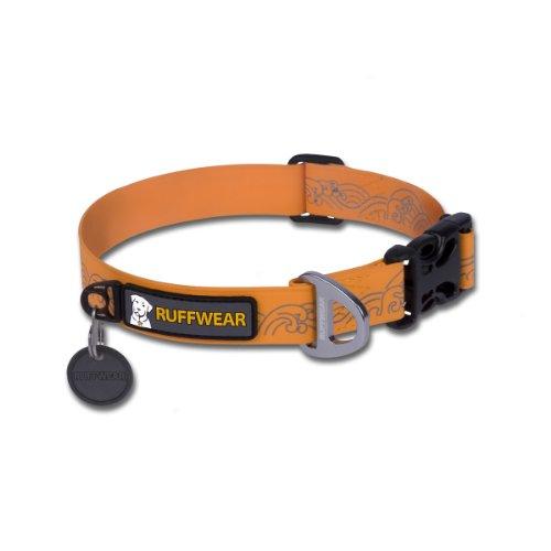 Ruffwear Headwater Dog Collar, Medium, Orange Sunset