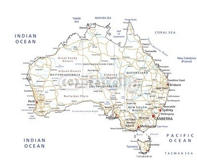 Map Of Australia Labelled.High Detailed Australia Road Map With Labelling 78532000