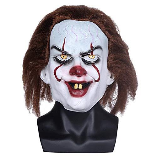 xuehaojie Horror Movie Face Clown Mask Hot Latex Clown Head Cover Explosion Halloween Mask