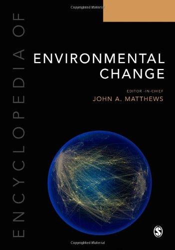 Encyclopedia Of Environmental Change: Three Volume Set