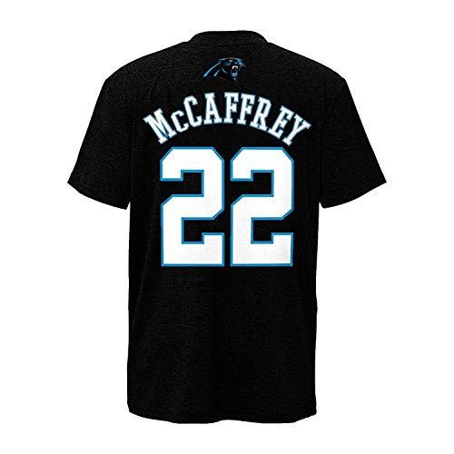 Outerstuff Christian McCaffrey Carolina Panthers #22 Black Youth Performance Name & Number Shirt (Large 14/16)