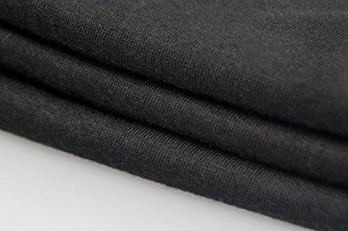 Yeesea Mujer Manga corta Printed Verano Cuello redondo Moda Camiseta superior tee shirts Negro