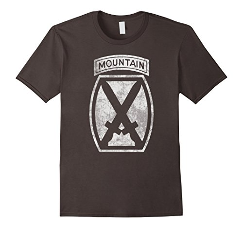 Mens 10Th Mountain Division Veteran T Shirt   Men Women Kid Large Asphalt
