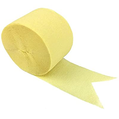 80ft Crepe Paper Party Streamers Banana Yellow - Excellent Home Decor - Indoor & Outdoor: Home & Kitchen