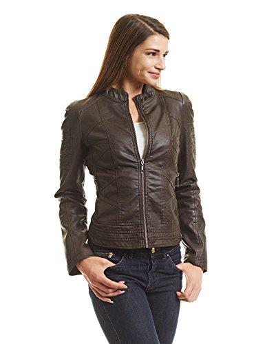 Brown Motorcycle Jacket Womens - 6