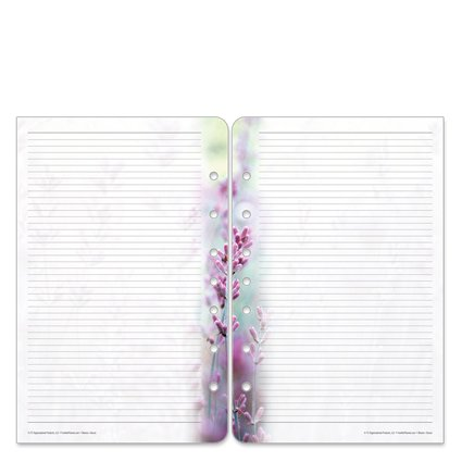 Free Classic Floral Blooms Lined Pages