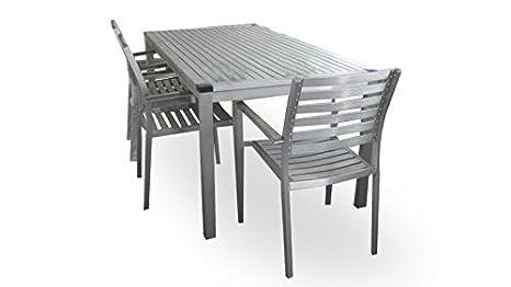 Tavoli Da Giardino In Alluminio Amazon.Tavolo Da Giardino Ext Sorridente In Alluminio Marica Amazon It