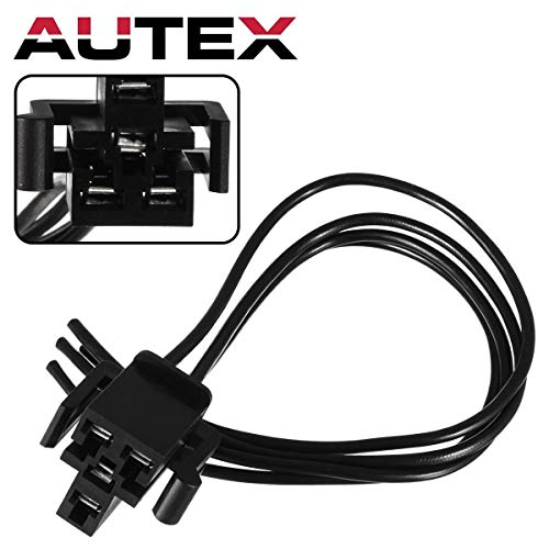 AUTEX Manual Blower Motor Resistor Harness Compatible with Ford Mustang Explorer Excursion Ranger Taurus Bronco E-150 250 350 450 550,Lincoln,Mazda,Mercury 81-17 Wire Pigtail S630 973-307 1P1115 PT766