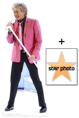 *FAN PACK* - Rod Stewart Lifesize Cardboard Cutout / Standee - INCLUDES 8X10 (25X20CM) STAR PHOTO - FAN PACK #343