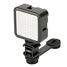 Triple Cold Shoe Mount Gimbal Extension Bracket, Universal Mic Stand and Light Mount Plate Adapter for Zhiyun Smooth 4…