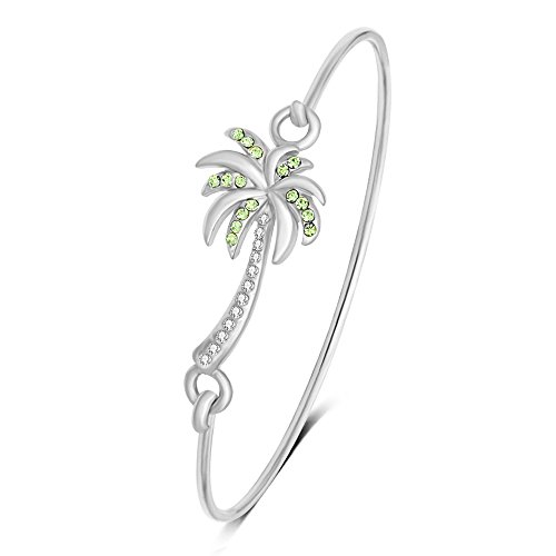 MANZHEN Beach Jewelry Palm Tree Bangle Bracelet Summer Style Hook Bangle (Best Palm Beach Jewelry Bracelets)