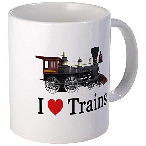 CafePress - I LOVE TRAINS Mug - Unique Coffee Mug, Coffee -