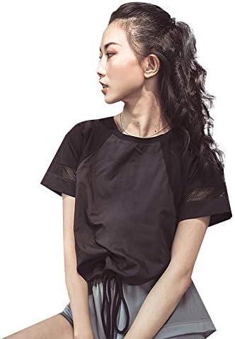 レディースジャージ上下セット レディースランニングタンクトップシェードワークアウトシャツ (Color : Black, Size : L)