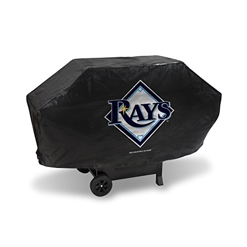MLB Tampa Bay Rays Deluxe Grill Cover, Black, 68 x 21 x 35