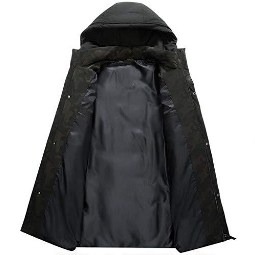 di di di Colore ZJEXJJ ZJEXJJ ZJEXJJ M Mezza Piumino Manica di Dimensioni Medio età età Mezza Invernale Mezza età in Nero Cappotto Alto Mezza aBqr0ax