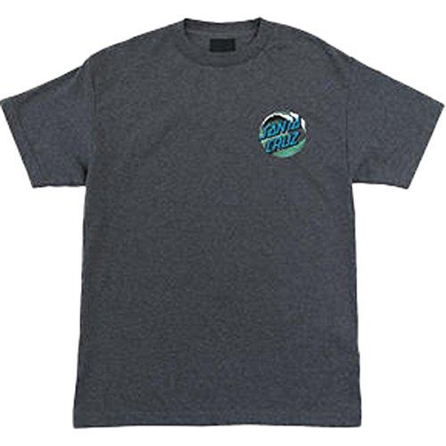 Santa Cruz Boys Wave Dot Short-Sleeve Shirt Medium Charcoal (Santa Youth T-shirt)