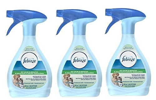 Febreze Pet Odor - 3 Pk, Febreze Fabric Refresher Pet Odor Eliminator Air Freshener (27 Fl oz)