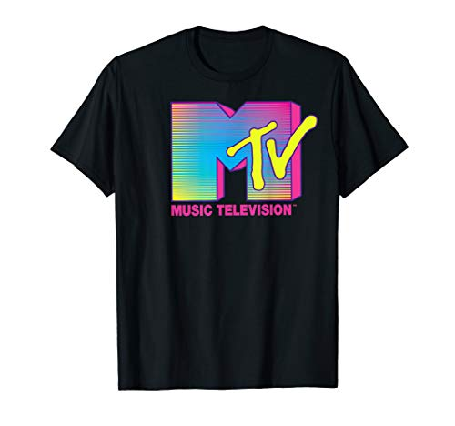 MTV Logo Fluorescent Colors Graphic T-Shirt, S to 3XL