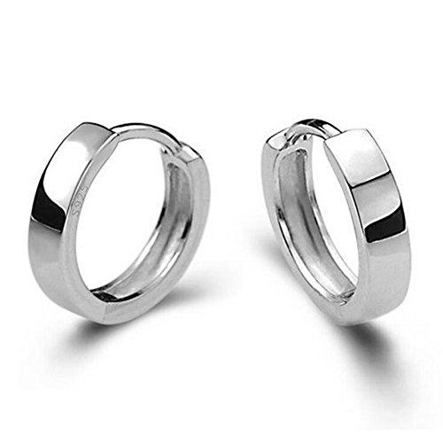 [해외]Vi.yo 귀걸이 실버 심플 액세서리 남성용 여성용 2 개 / Vi.yo Earrings Silver Simple Accessories Men`s Women`s 2pcs
