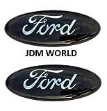 ford f350 emblem - 2 pcs SET 2005-2014 Ford F150 Black Oval 9