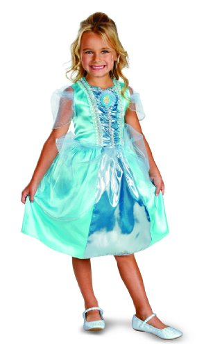 Disguise Disney Cinderella Sparkle Classic Girls Costume, 3T-4T (Disney Princess Girls Cinderella Classic Costume)