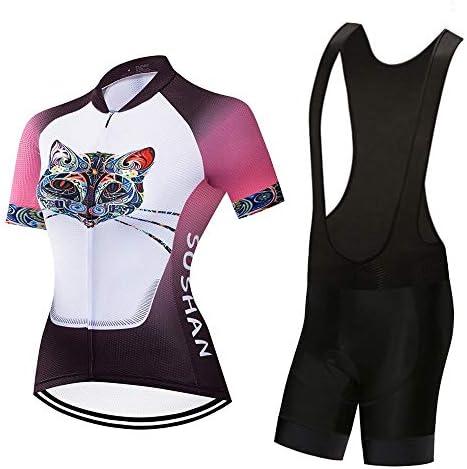 快適なスポーツウェア 春、夏、秋の女性用サイクリングジャージー半袖スーツショーツモイスチャーウィッキングショーツ (Color : 2, Size : XS)
