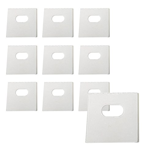 Impresa Products 10 Sets of Clear Vertical Blind Repair Tabs/Vertical Blind Tabs/Blind Fixers - 20 Total Tabs (10 Sets) and 2 Alcohol Wipes