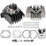 FINDAUTO Power Cylinder Kits for 1984-1987 Suzuki Quadrunner 50 LT50 with Rings Pin and Clips Replace 01500-0645B
