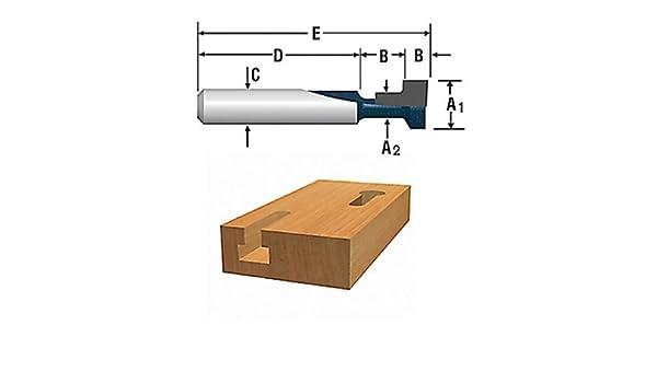 Bosch 85608MC 3//8-Inch x 3//16-Inch Keyhole Router Bit 1//4-Inch Shank **NEW**