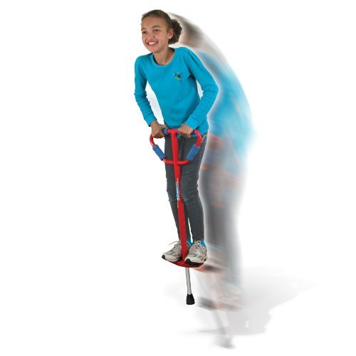 Price comparison product image Medium Jumparoo Boing! I Pogo Stick by Air Kicks for Kids 60 to 100 Lbs, RED