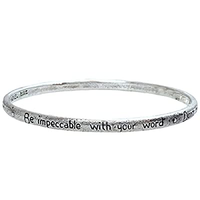 """New The Four Agreements """"Reminder Bangle"""" Single Bangle for sale"""