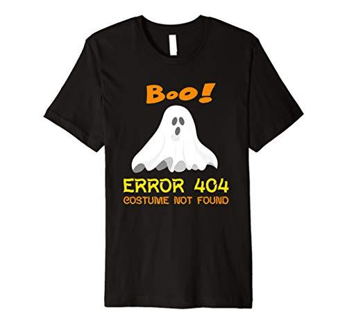 Error 404 Costume Not Found Boo Halloween Premium T-Shirt -
