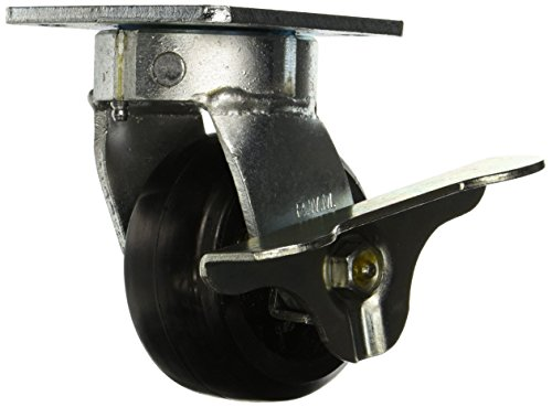 RWM-Casters-65-RIR-0420-S-WB-65-Series-5-58-High-4-Rubber-on-Iron-Wheel-with-Side-Wheel-Brake-Swivel-Caster