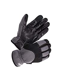 SKYDEER Genuine Leather Winter Hybrid Touch Screen Work Gloves with Fleece Insulation (SD2240T/L)