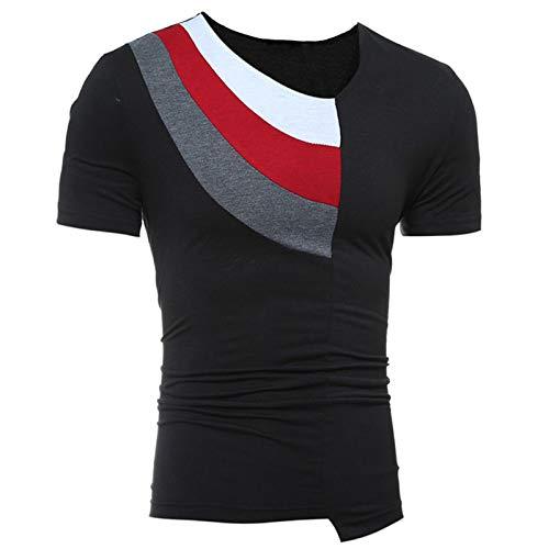 Couture D'été Manches Hommes Shirt Tee Courtes Chemisier Noir Top wqT6Ow