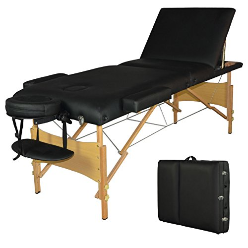 BestMassage 77 L Black Reiki Portable Massage Table T3