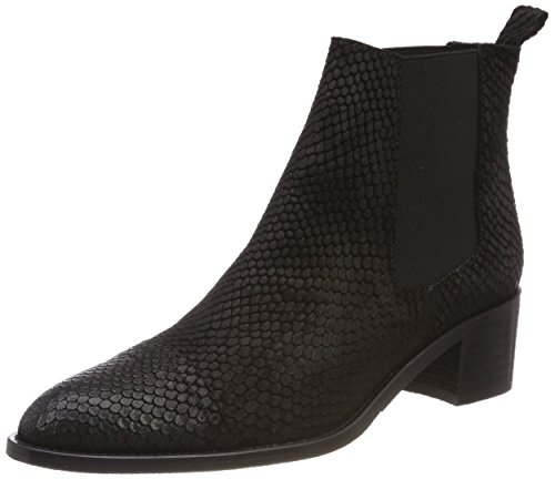 Negro Bianco Dress Botas 11 Black Mujer para Chelsea zzX7wqS