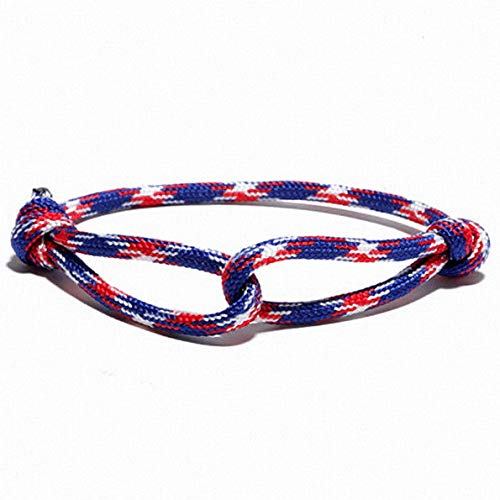 (Mikash DIY Umbrella Rope Braided Luck Survival Bracelets Bangles Men Women | Model BRCLT - 9893 |)
