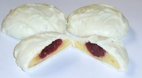 Scott's Cakes White Chocolate Covered Cherry Butter Cookies in a 1 Pound White Bakery Box