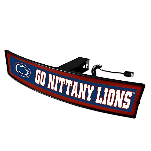 Fanmats NCAA Penn State Nittany Lions 20021 Light Up Hitch Cover, One Size, Team Colors ()
