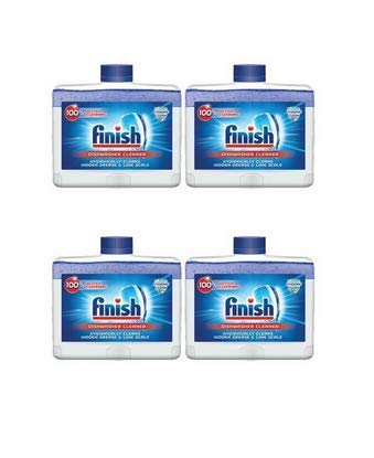 Finish Dual Action Dishwasher Cleaner: Fight Grease & Limescale, Fresh, 8.45oz (4 Pack(8.45 Oz))