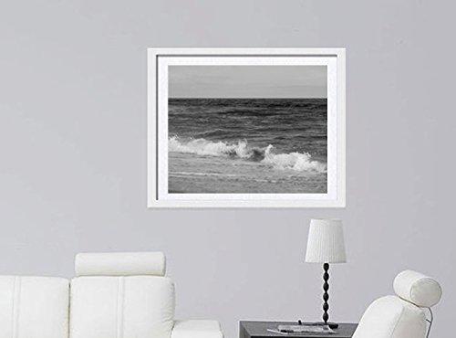 Black and White Art Print, Ocean Photography Print, Nautical Coastal Beach Bathroom Decor Grey Wall Art Picture 5x7, 8x10, 11x14, 12x16