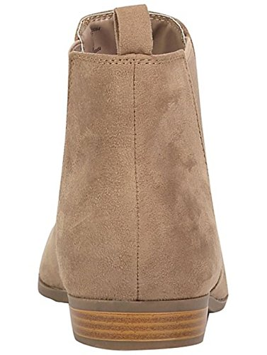 City Outlet Botines Chelsea Mujer Taupe Faux Suede