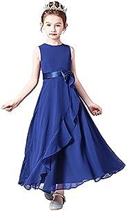 Little Girl Junior Bridesmaid Dresses Wedding Flower Girl Special Occasion Dress Kids Formal Party Chiffon