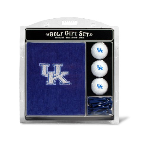 (Team Golf NCAA Kentucky Wildcats Gift Set Embroidered Golf Towel, 3 Golf Balls, and 14 Golf Tees 2-3/4