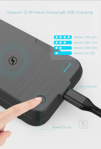 iPhone X Battery predicament by implies of  QI instant Charging iphone x electric power Bank by implies of  instant Charging 58 inch 4000mAh skinny Extended lightweight Battery Backup Charger predicament for iPhone 10 58 Inch Battery Charger Cases