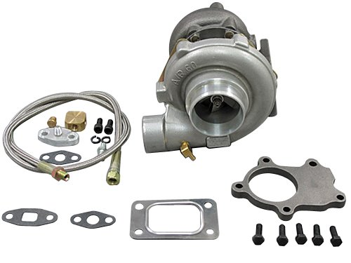 T3 T4 T3T4 T04E .60AR TURBO CHARGER +OIL LINE+DP FLANGE (Any Downpipe Turbo Flange)
