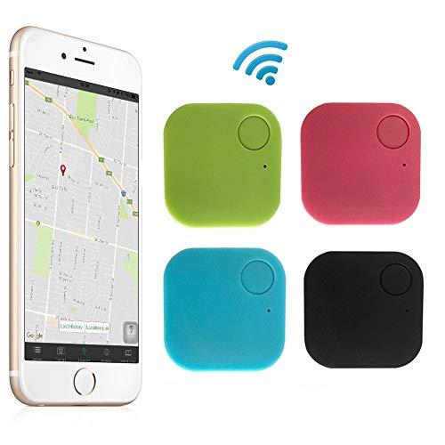 4 Pack Smart GPS Tracker Finder Locator Pet Tracker Bluetooth Key Finder Wireless Seeker Anti Lost Sensor for Key Wallet Phone Car Kids Dog Cat Outdoor Travel Camping Birthday Gift